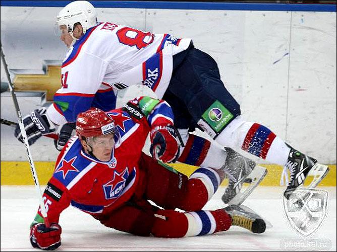 02.12.2010. КХЛ. ЦСКА - Сибирь - 3:4. Фото 03.