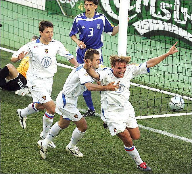 20 июня 2004 года. Матч группы А финального турнира 12-го чемпионата Европы. Греция — Россия — 1:2