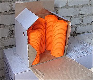 Упаковка мишеней готова к отправке