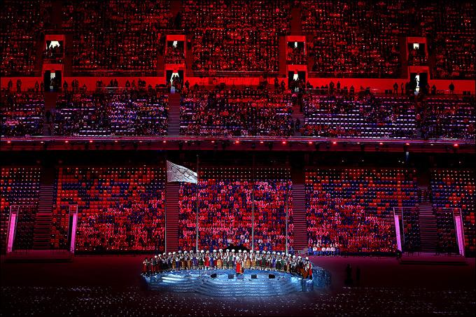 Начало церемонии закрытия Игр
