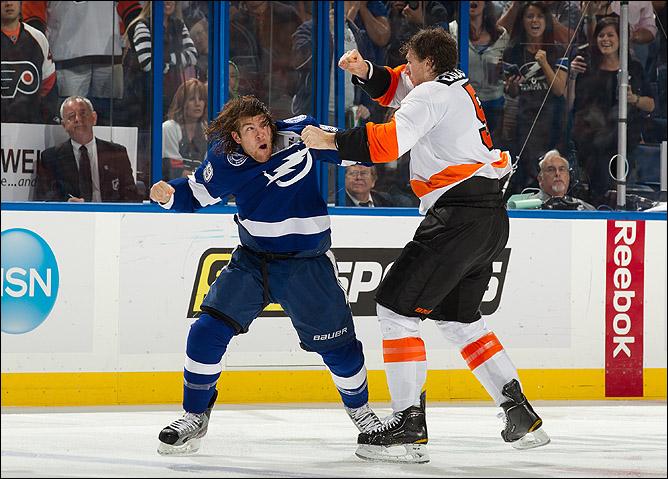 """9 ноября 2011 года. Тампа. Регулярный чемпионат НХЛ. """"Тампа"""" — """"Филадельфия"""" — 2:1"""