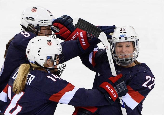 Американки — в финале женского хоккея