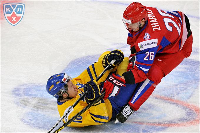 Даниил Жарков против сборной Швеции