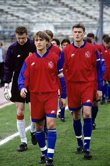 ЦСКА образца 1996 года. Слева направо: Дмитрий Тяпушкин, Евгений Бушманов и Валерий Минько