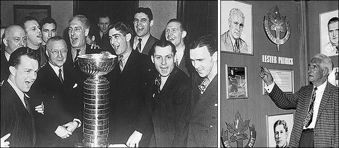 Лестер Патрик с Кубком Стэнли и в Зале Славы НХЛ