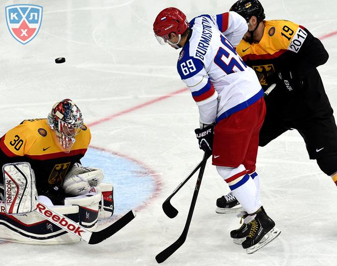 18 мая 2014 года. Минск. Чемпионат мира. Групповой этап. Россия — Германия — 2:0