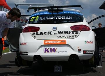 Николай Карамышев на старте первой гонки WTCC