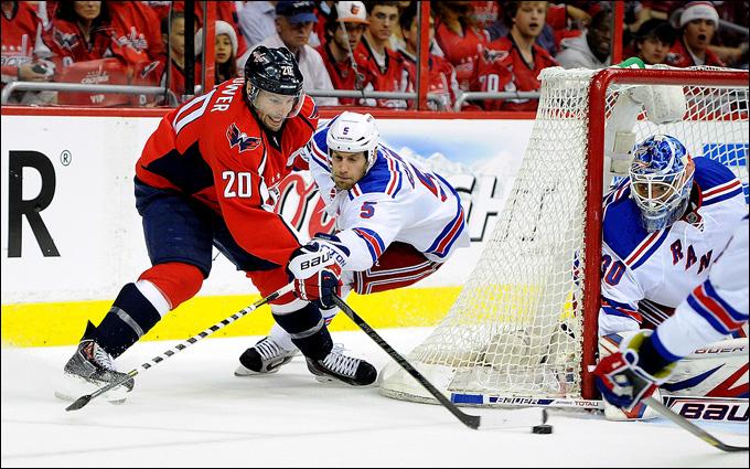 """10 мая 2013 года. Вашингтон. Плей-офф НХЛ. 1/8 финала. Матч № 5. """"Вашингтон"""" — """"Рейнджерс"""" — 2:1 (ОТ). Последние минуты матча"""