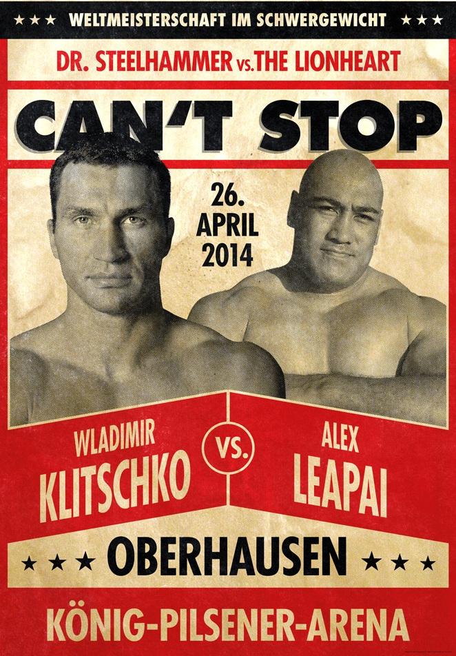 Постер к бою Кличко — Леапаи