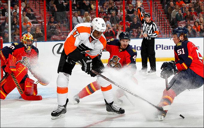 "26 января 2013 года. Санрайз. Регулярный чемпионат НХЛ. ""Флорида Пантерз"" – ""Филадельфия Флайерз"" – 1:7"