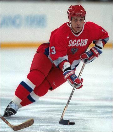 Валерий Каменский в сборной России на Олимпиаде-1998