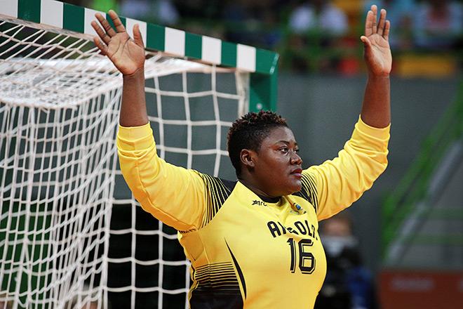 Вратарь сборной Анголы