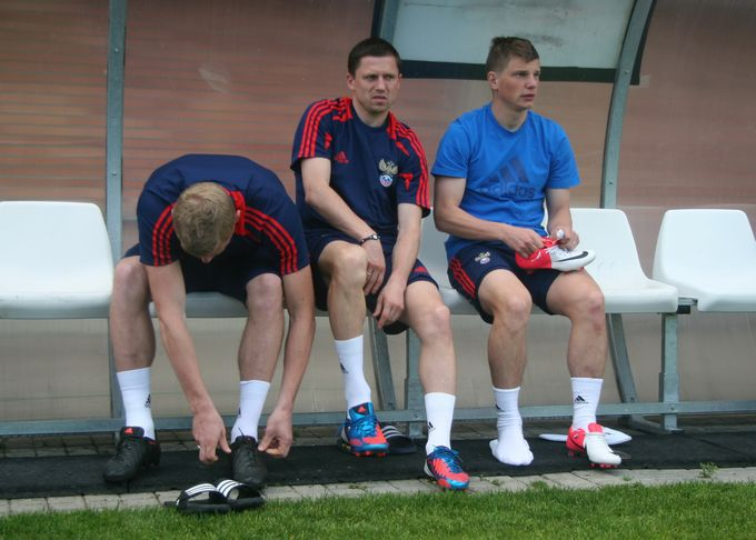 Павел Погребняк, Игорь Семшов и Андрей Аршавин