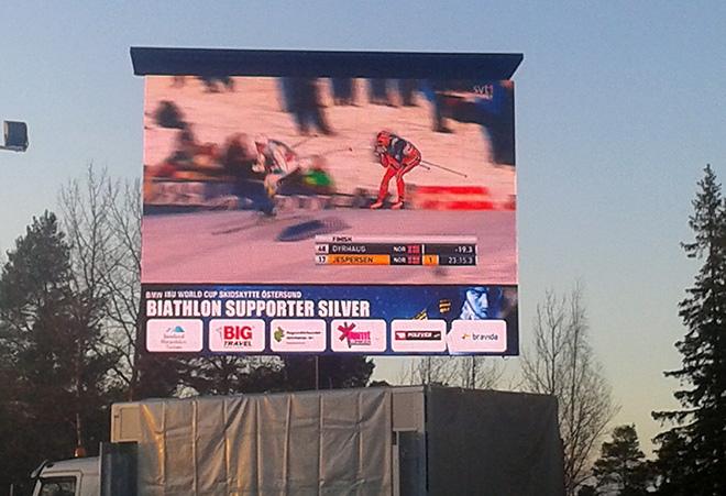 Трансляция лыжных гонок
