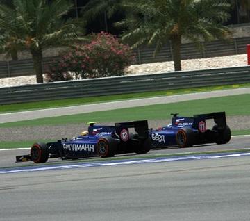 Сэм Бёрд и Том Дильманн на этапе в Бахрейне