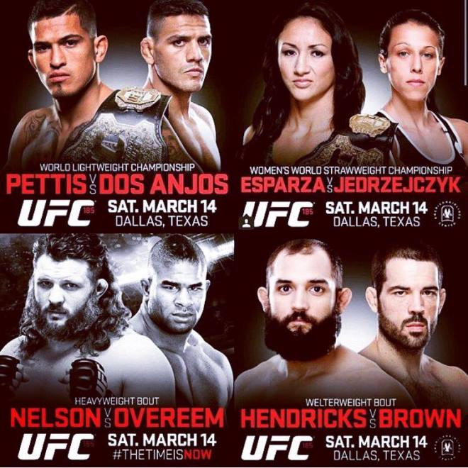 Постер к турниру UFC 185