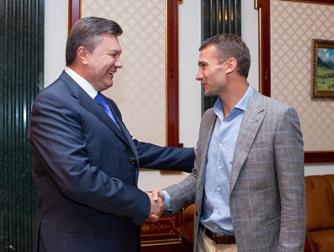Перед вылетом в Милан Шевченко встретился с Виктором Януковичем