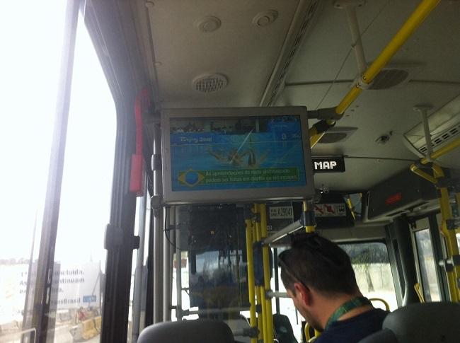 Синхронное плавание теперь и в олимпийских автобусах