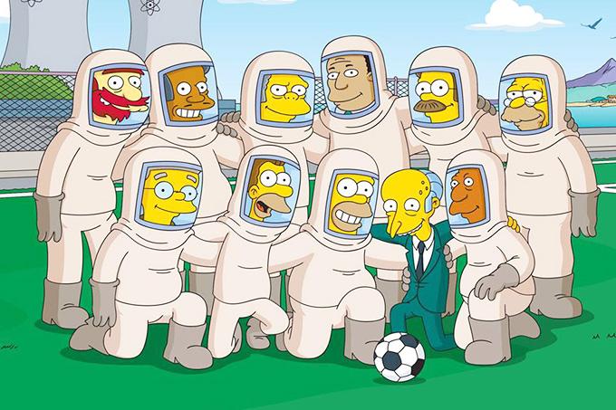"""Вся планета постепенно начинает играть в футбол, не стали исключением и герои мультипликационного фильма """"Симпсоны""""…"""