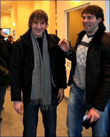 Сандис Озолиньш (слева) с Яромиром Ягром