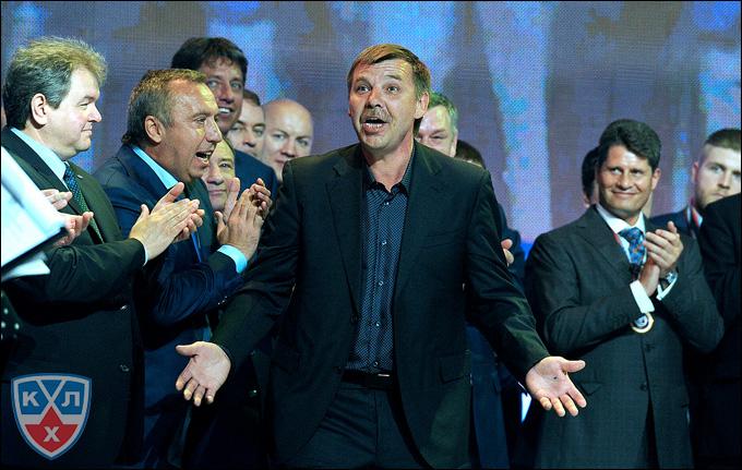 Олег Знарок на закрытии сезона КХЛ