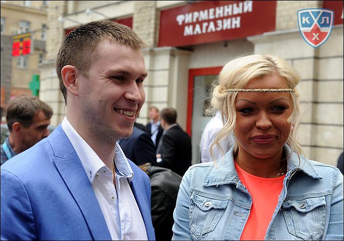 Константин Барулин с женой
