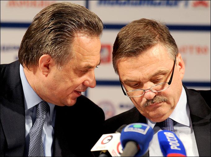 Виталий Мутко (слева) и Рене Фазель