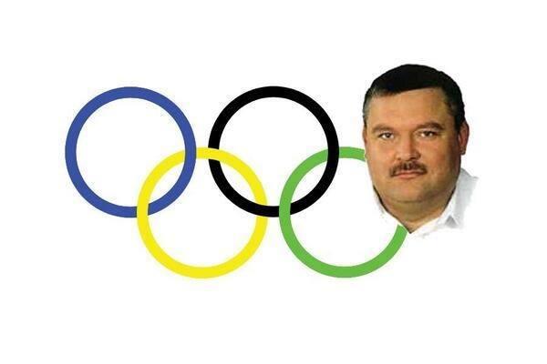 Новая версия олимпийских колец.
