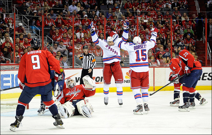 """13 мая 2013 года. Вашингтон. Плей-офф НХЛ. 1/8 финала. Матч № 7. """"Вашингтон"""" — """"Рейнджерс"""" — 0:5. """"Рейнджеры"""" идут дальше!"""
