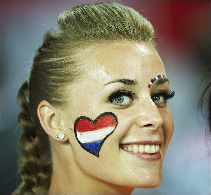 Болельщица сборной Голландии