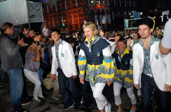 Украинских олимпийцев на Игры в Лондон проводили торжественно