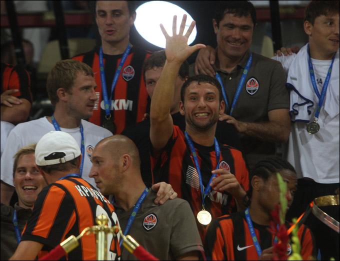 Радость после победы в Кубке УЕФА
