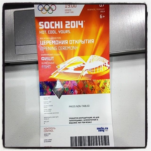 Билет на церемонию открытия Олимпиады. Источник: инстаграм Игоря Брагина