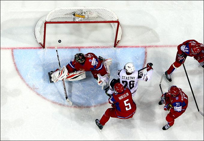 16 мая 2013 года. Хельсинки. 1/4 финала. Россия — США — 3:8