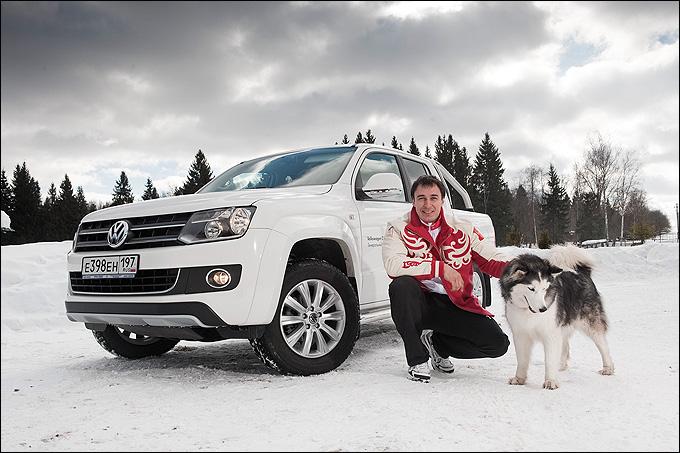 Бобслеист Алексей Воевода, посол марки Volkswagen Коммерческие автомобили, призер Олимпиад в Турине и Ванкувере