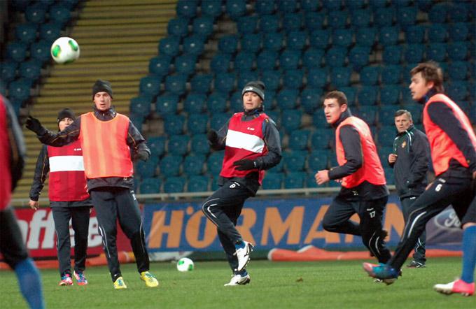 Тренировка сборной Молдавии в Одессе