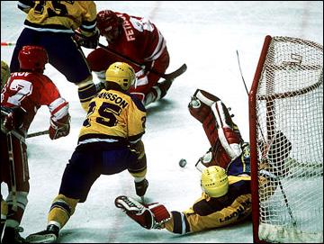 XV Зимние Олимпийские игры. Калгари. Хоккейный турнир. СССР — Швеция