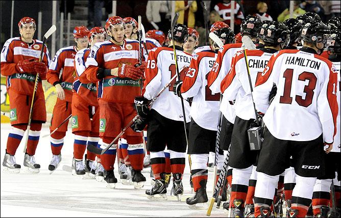 14 ноября 2011 года. Су Сент-Мари. Subway Super Series. Россия (U-20) — Канада (OHL) — 3:6
