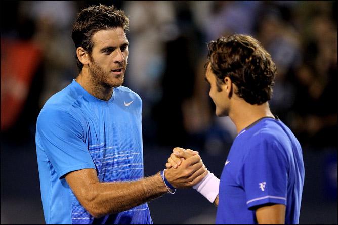 Федерер наконец-то смог поквитаться с дель Потро за поражение в финале US Open-2009