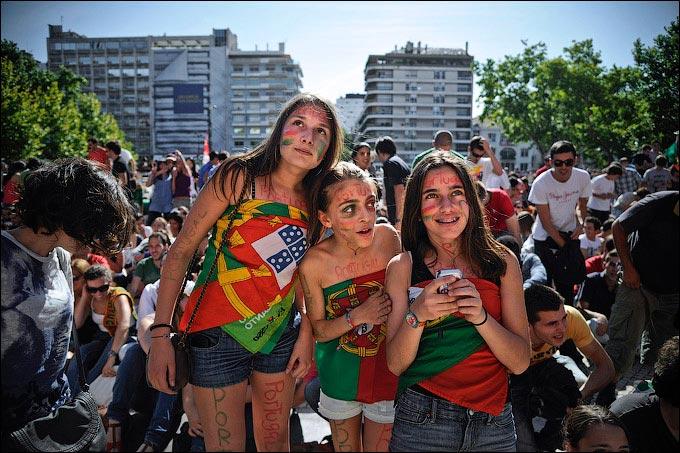 Болельщицы сборной Португалии