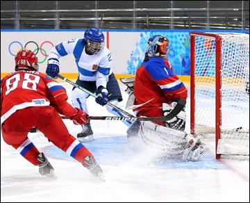 18 февраля 2014 года. Сочи. XXII зимние Олимпийские игры. Хоккей. Женщины. Матч за 5-6-е место. Россия — Финляндия — 0:4