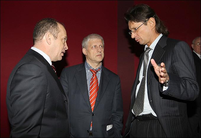 Сергей Прядкин, Сергей Фурсенко и Леонид Федун