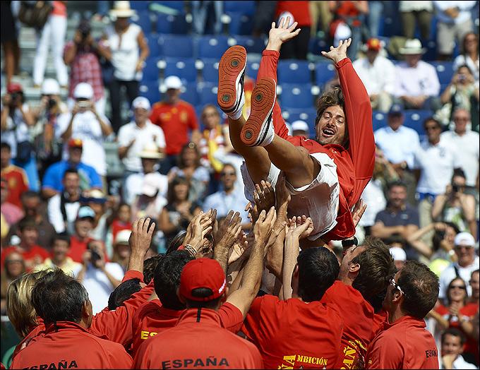 Давид Феррер обеспечил Испании седьмую победу подряд