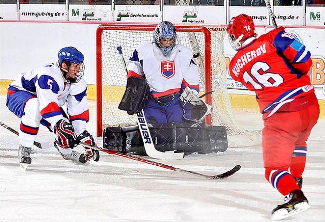 14 апреля 2011 года. Криммитшау. Чемпионат мира среди юниоров. Россия — Словакия — 8:2.