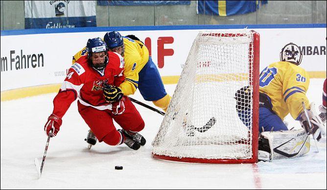 14 апреля 2011 года. Дрезден. Чемпионат мира среди юниоров. Чехия — Швеция — 2:1