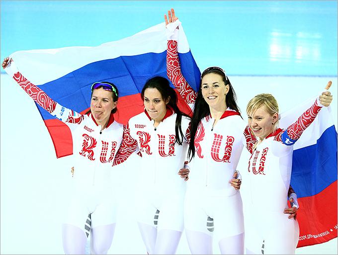 Женская сборная России — третья в командной гонке