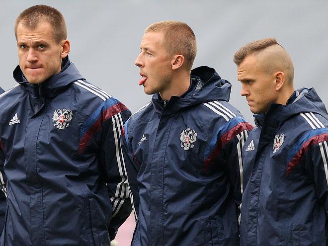 Тренировка сборной России на «Арене-Химки»