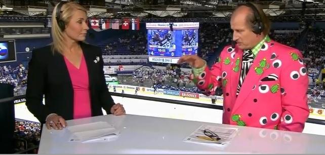 Хоккейный аналитик на финском ТВ