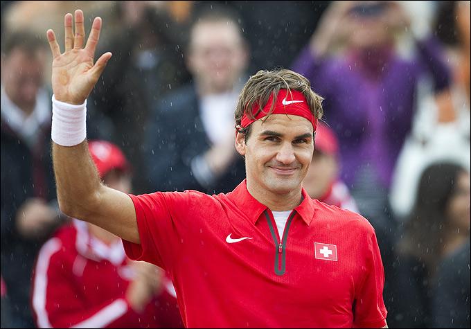 Роджер Федерер выиграл оба одиночных матча в Нидерландах