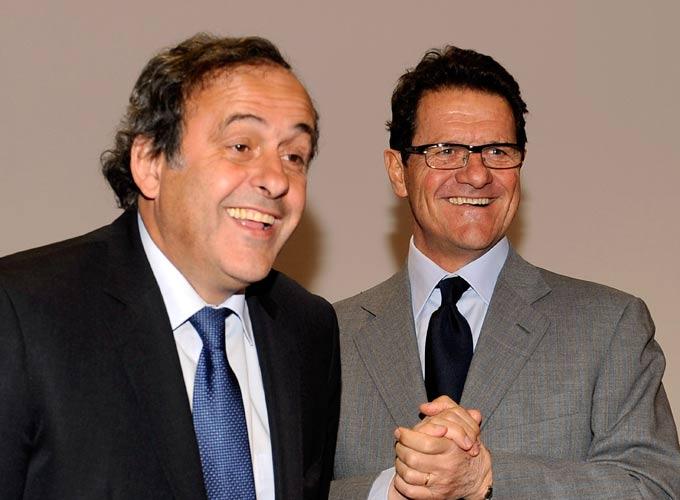 Фабио Капелло с Мишелем Платини